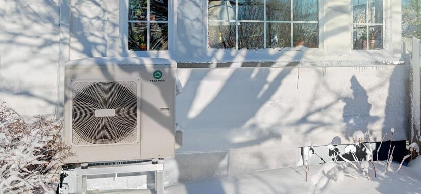 Image unité exterieur d'une pompe à chaleur