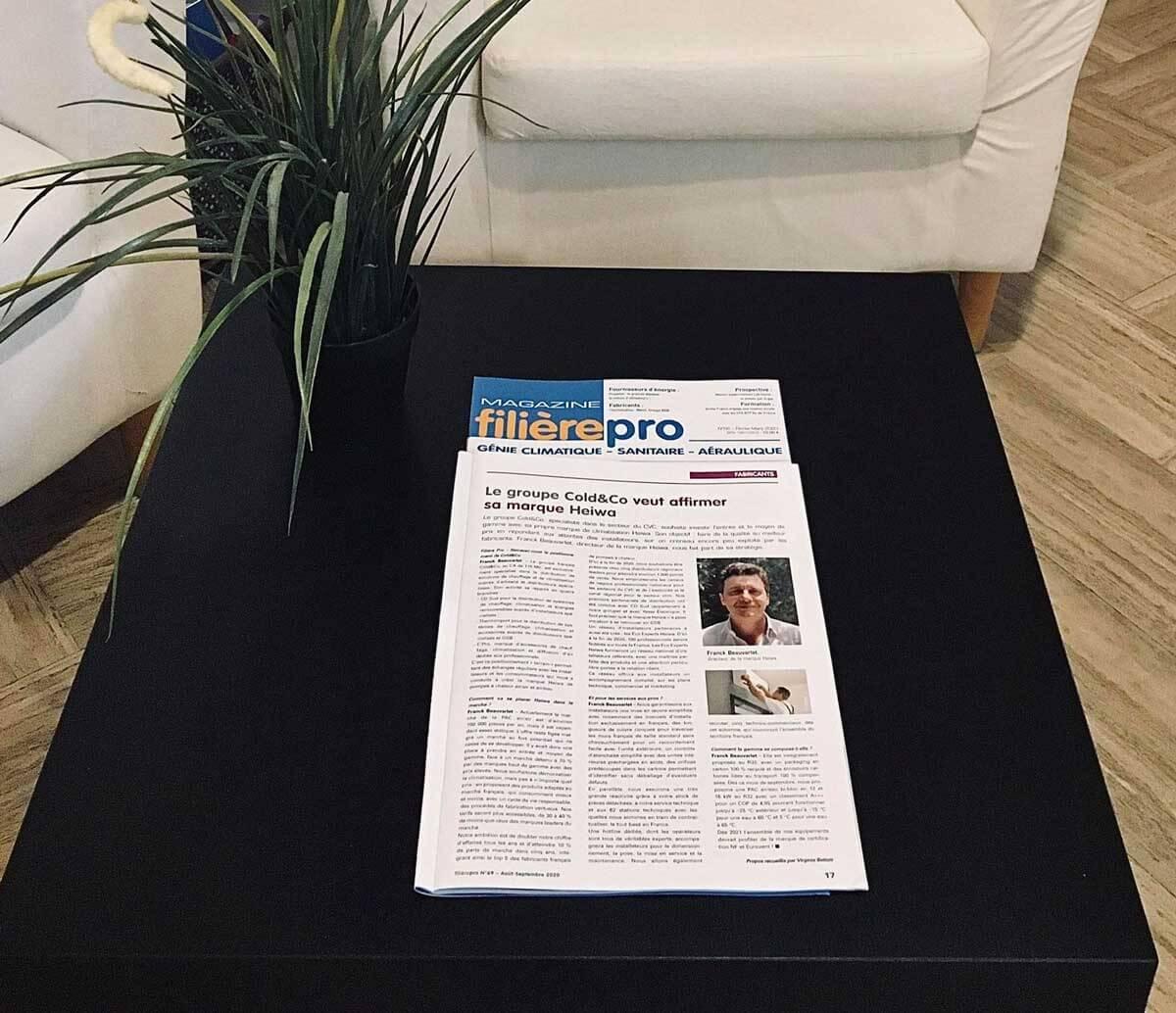 Article Filière Pro Magazine
