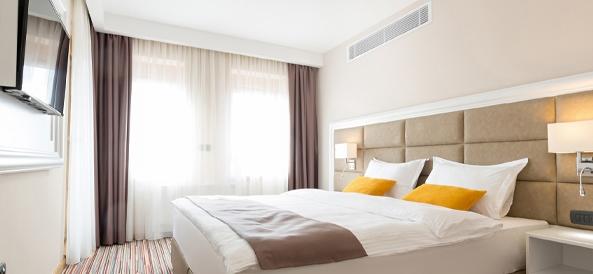 Chambre hotel avec gainable slim heiwa pro essentiel zen