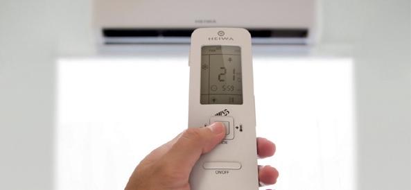 Télécommande PAC Heiwa avec technologie IFEEL