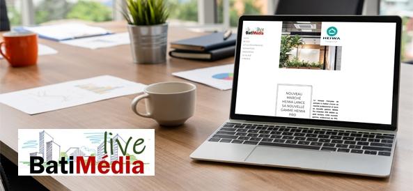 ordinateur avec l'article de matimedia sur heiwa