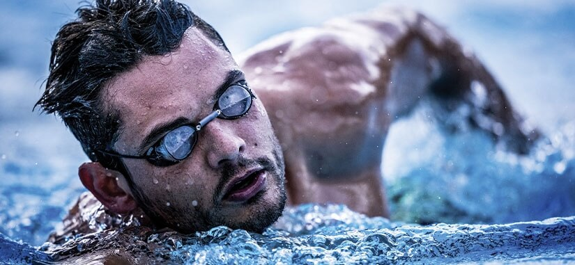 Visuel Florent Manaudou dans une piscine