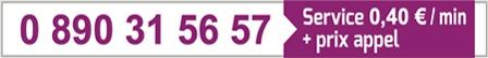 N° de hotline installateur 0 890 31 56 57